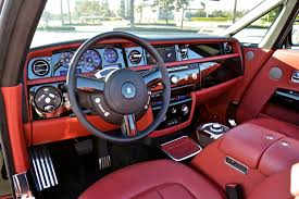 rolls royce cullinan interior red leather car interior of rolls royce 777 exotic car rental
