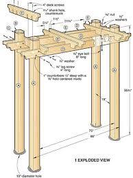 wedding arch blueprints garden arbor swing plans outdoor projects arbor