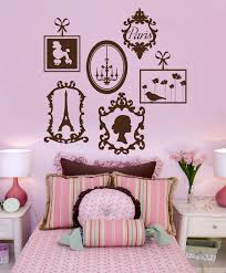 Eiffel Tower Wall Decals Paris Vinyl Wall Decals Frame Collage Vinyl Wall Graphics