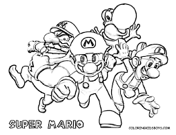 mario character coloring pages print kids coloring