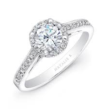 beautiful wedding ring 18k white gold vintage halo engagement rin