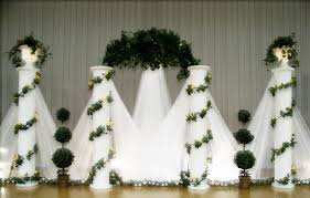 tulle backdrop wedding backdrops
