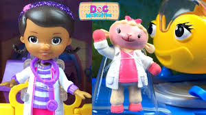 doc mcstuffins collection with toy hospital doc and rosie the