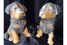 guard dog statue 2 animal rottweiler guard dog puppy garden display statue