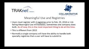 pqrs registries webinar meaningful use and pqrs a review of 2015 and 2016