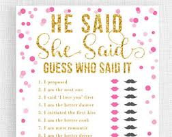 who said it bridal shower guess who or groom bridal shower he said she