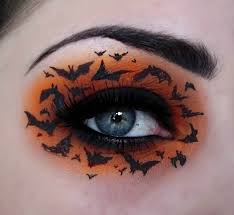 halloween eye makeup bats