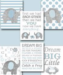 Gray Elephant Nursery Decor by Blue Grey Elephant Canvas Print Baby Boy Nursery Quotes Baby