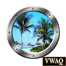 tropical beach scene window porthole palapa s room decor wall art tropical beach scene window porthole palapa s room decor wall art vwaq sp14