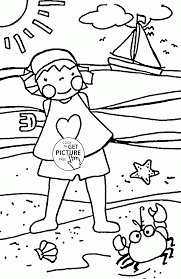 funny summer holiday coloring page for kids seasons coloring