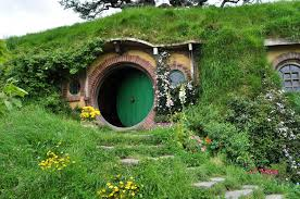 Underground Tiny House Architecture Hobbit House Design With Round Door And Window