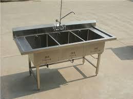 Triple Basin Kitchen Sink by Triple Bowl Kitchen Sink Undermount Triple Bowl Kitchen Sink