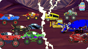 Scary Halloween Monsters by Monster Truck Vs Scary Vehicles Monster Truck Fight Scary