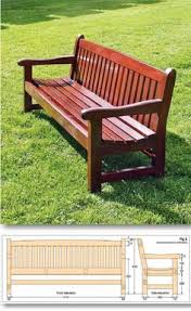 build garden bench outdoor furniture plans and projects