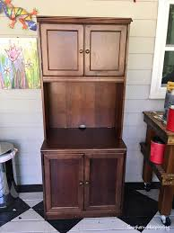 painted porch cabinet for storage southern hospitality