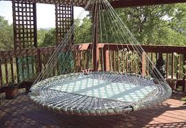 outdoor floating bed swing bed made from recycled troline the owner builder network