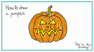 Halloween Pumpkin Drawings How To Draw A Scary Pumpkin In 7 Steps Halloween Youtube