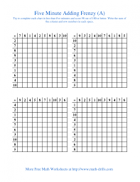 multiplication frenzy worksheet math worksheets 5 minute frenzy