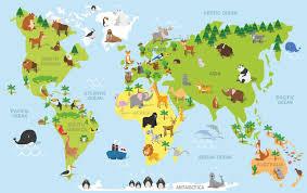 weltkarte für kinderzimmer wandtattoos wandtattoo weltkarte karte für kinder ein