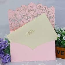 popular pink u0026amp gold wedding invitation card buy cheap pink u0026amp