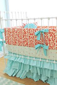Navy And Coral Crib Bedding Coral Crib Bedding Set Bedroom Ideas And Inspirations