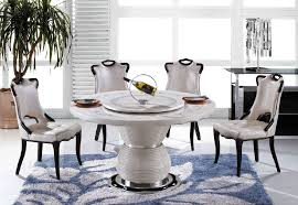 round marble dining table and chairs isingtec karaoke italian furniture mattress massage round marble