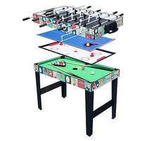 4 In 1 Game Table Table Game Multi Pool Hockey Tennis Billiards Fun New Sports