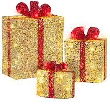 pre lit christmas gift boxes shop gemmy pre lit gift boxes with twinkling warm white led lights