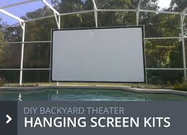 diy projection screens for backyard theater