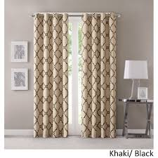 Patterned Window Curtains Park Westmont Geometric Pattern Curtain Panel Single