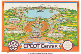 Disney World Epcot Map Walt Disney World Posters Retrowdw