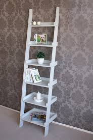 Narrow Wooden Bookcase by Gloucester Wooden Tall Narrow Ladder Shelf 6 Shelving Unit