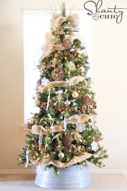 burlap christmas tree how to decorate a christmas tree with burlap designcreative me
