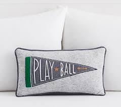 Lumbar Decorative Pillows Play Ball Lumbar Decorative Pillow Pottery Barn Kids