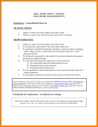Special Education Paraprofessional Resume Paraprofessional Cover Letter Cbshow Co