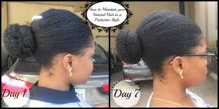 how to maintain moisturise natural hair in a protective style