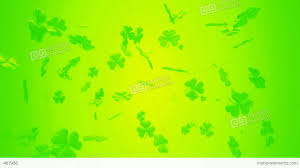 loopable st patrick u0027s day clover motion background stock