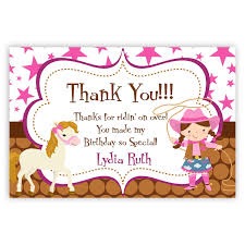 thank you card pink brown polka dot