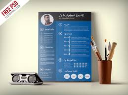 Professional Resume Cv Template Creative And Professional Resume Cv Free Psd Template