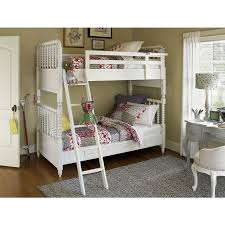 SmartStuff Bellamy Vintage Bunk Bed Twin Over Twin In Daisy White - Vintage bunk beds