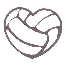 volleyball heart clipart clipartxtras
