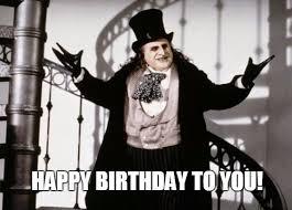 Batman Happy Birthday Meme - penguin birthday memes wishesgreeting