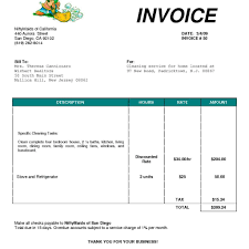 lawn maintenance invoice template fern spreadsheet