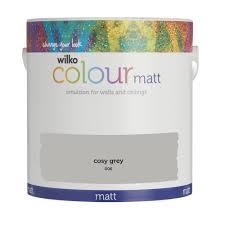 Cosy Wilko Matt Emulsion Paint Cosy Grey 2 5l At Wilko Com