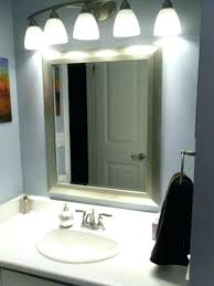 Bathroom Mirror With Built In Light Led Lights Bathroom Mirror Bathroom Mirrors With Embedded