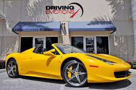 used 458 spider 2015 458 spider stock 5873 for sale near lake park fl
