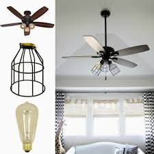 living room cute caged ceiling fan for home interior design with