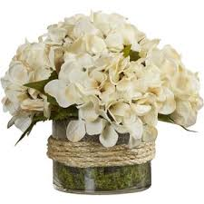 white floral arrangements artificial flower arrangements you ll wayfair