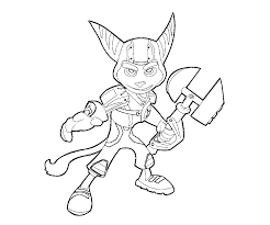 ratchet and clank coloring pages free printable coloring 1977