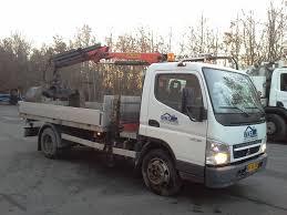 mitsubishi fuso mitsubishi fuso 7c15 lastbil med palfinger kran og 3 vejs tip